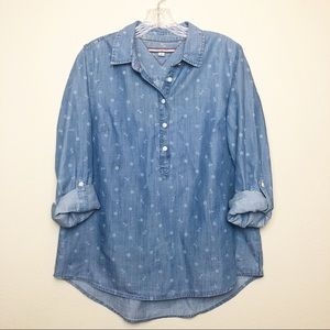 Tommy Hilfiger Chambray Anchor Print Top E340